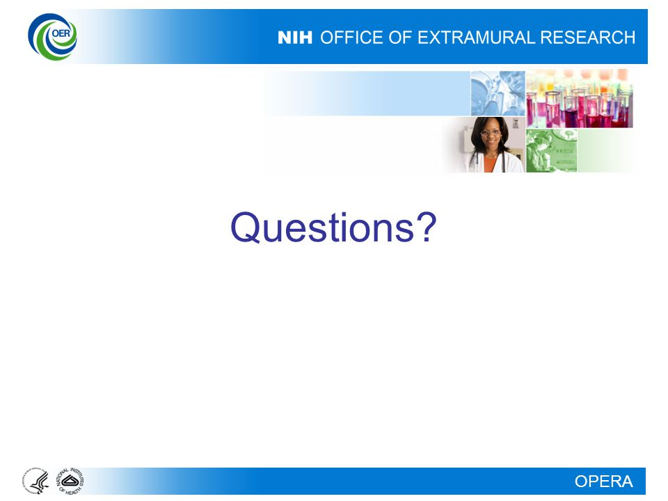OPERA Questions?