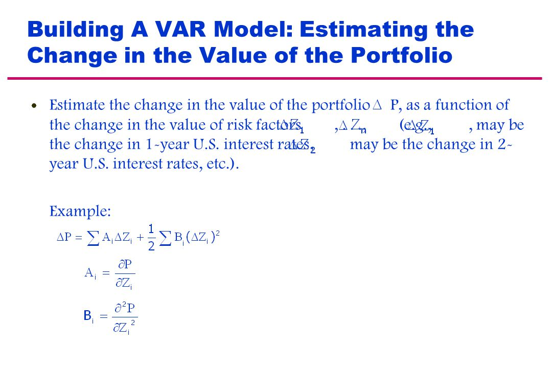 The Need For VAR Model Accuracy If the VAR is systematically too low, the model is underestimating the risk and you tend to have too many occasions wh