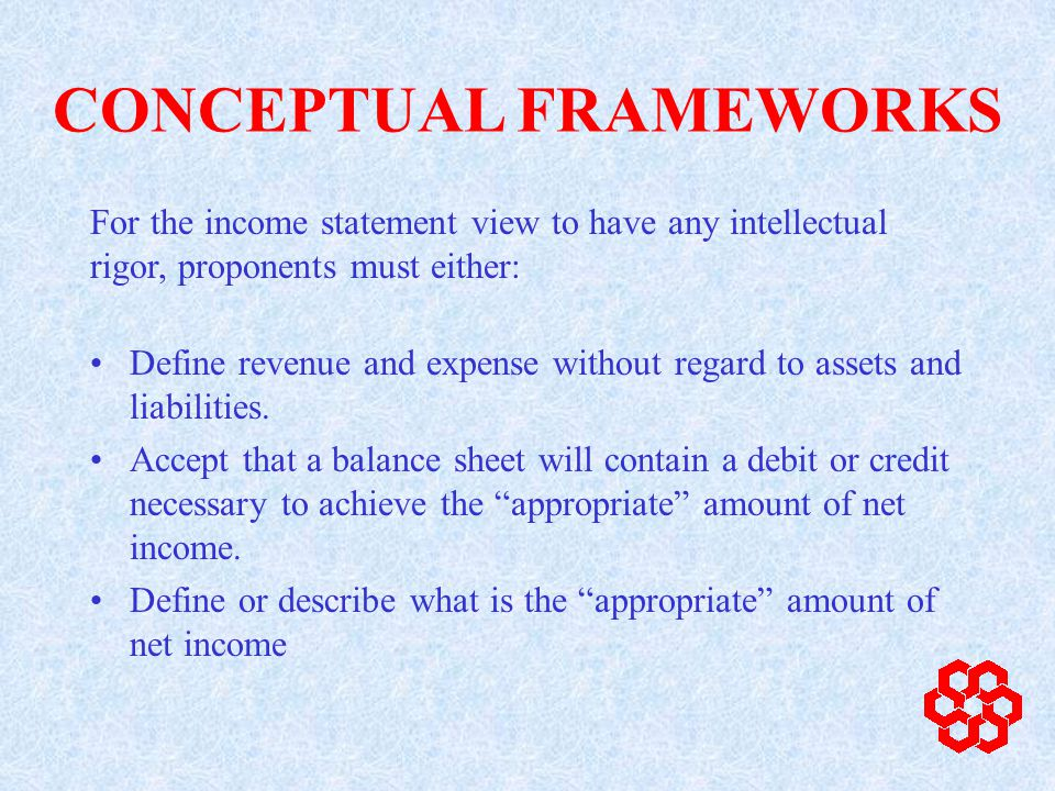 Define revenue and expense without regard to assets and liabilities.