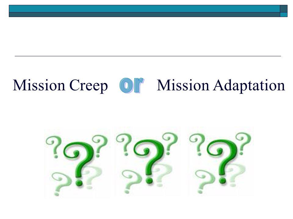 Mission CreepMission Adaptation