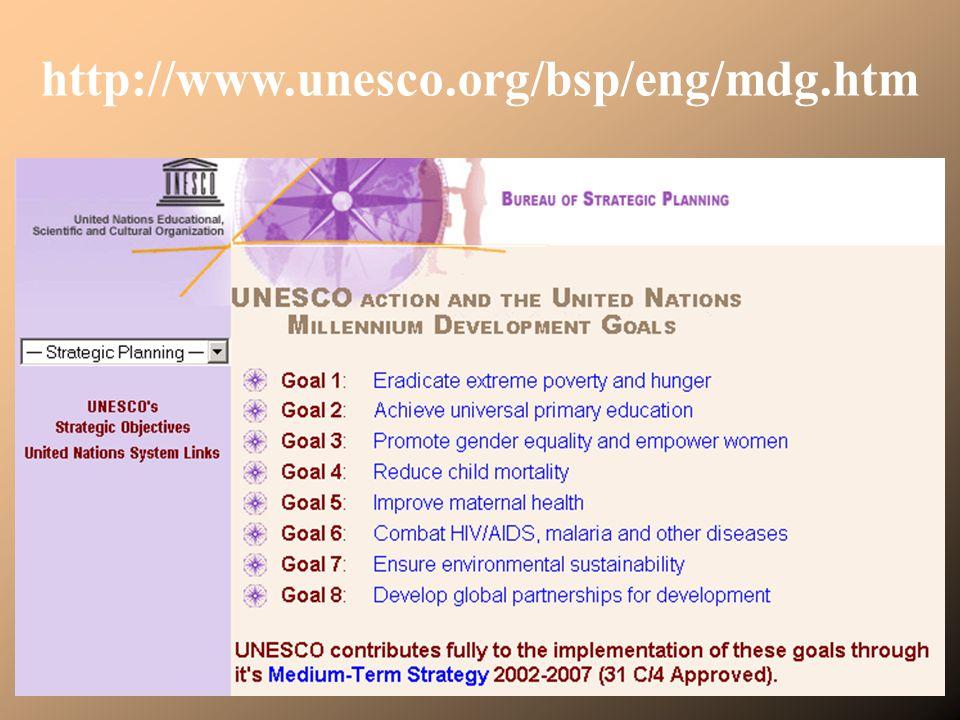 http://www.unesco.org/bsp/eng/mdg.htm