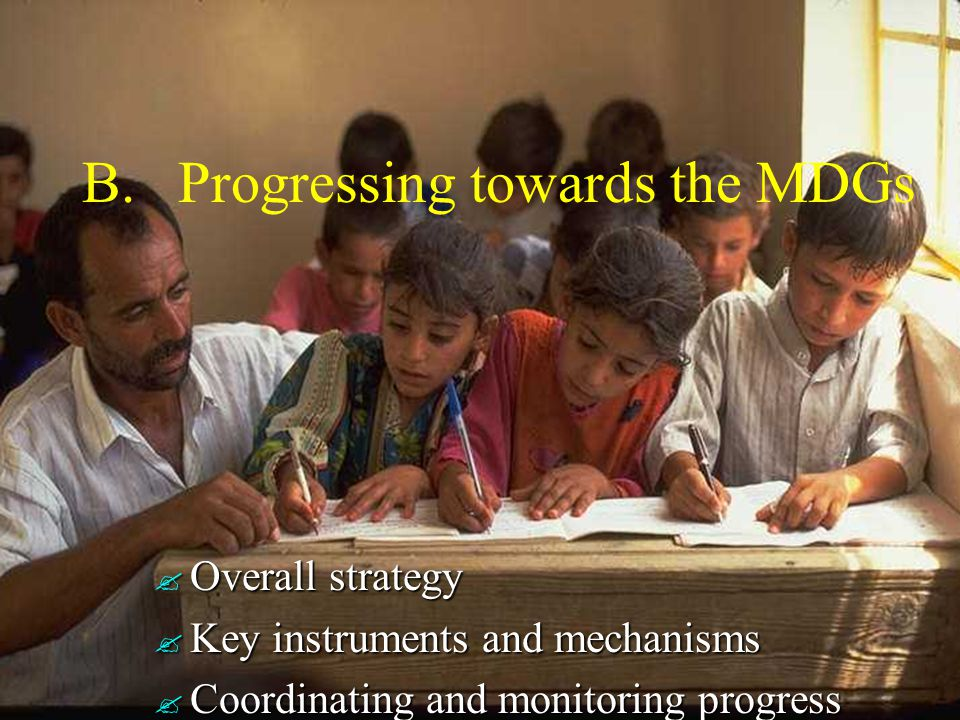 Proposed overall strategy for achieving the MDGs (as of 7 June 2002) Three complementary initiatives: the Millennium Project, a research initiative to be led by Professor Sachs, under guidance of UNSG and UNDP Admnistrator, including (1) a UN Expert Group (with UNESCO representation), (2) an International advisory panel, (3) 10 Task Forces (UNESCO to play a role) the Millennium Project, a research initiative to be led by Professor Sachs, under guidance of UNSG and UNDP Admnistrator, including (1) a UN Expert Group (with UNESCO representation), (2) an International advisory panel, (3) 10 Task Forces (UNESCO to play a role) the Millennium Reports, an effort to oversee comprehensive global and national reporting and monitoring of progress, and the Millennium Reports, an effort to oversee comprehensive global and national reporting and monitoring of progress, and the Global Millennium Campaign, a special initiative aimed at building awareness and creating new coalitions for action across North and South for development generally and the MDGs in particular.