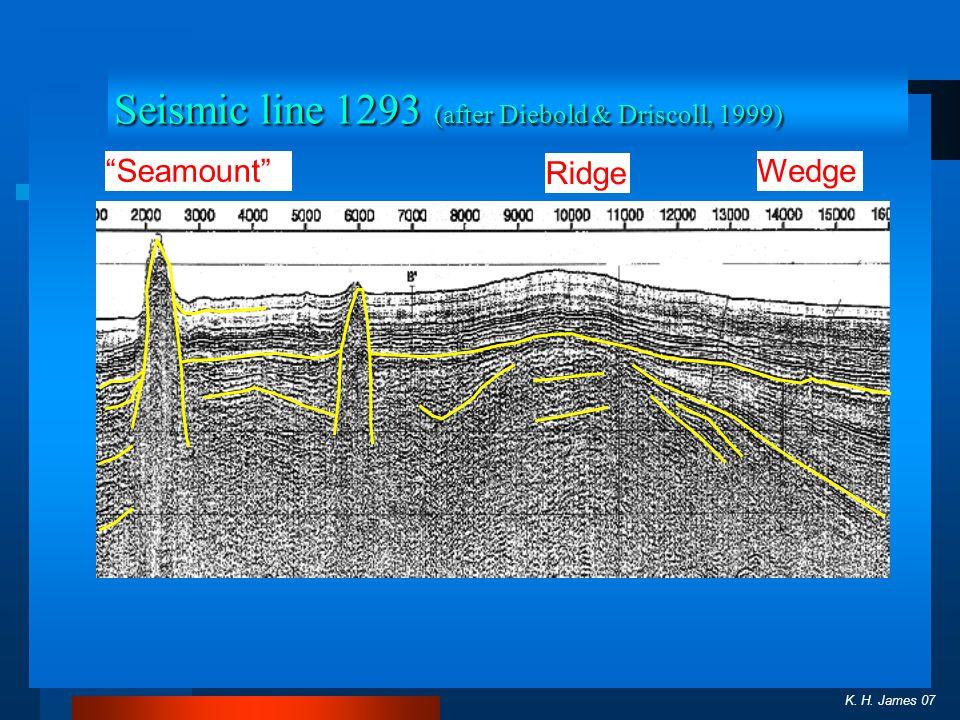 K. H. James 07 Wedge Ridge Seamount Seismic line 1293 (after Diebold & Driscoll, 1999)
