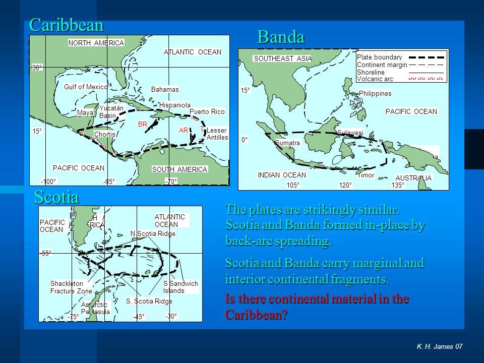 ATLANTIC OCEAN PACIFIC OCEAN -70°-85° 15° 30° -100° Gulf of Mexico Yucatán Basin Maya Chortis Hispaniola Puerto Rico Lesser Antilles Bahamas BR AR PAC