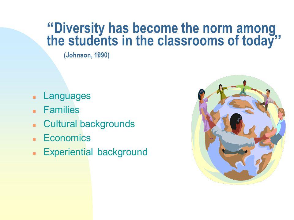 Student Diversity n Aptitude n Achievement n Interest n Motivation n Needs n Ability
