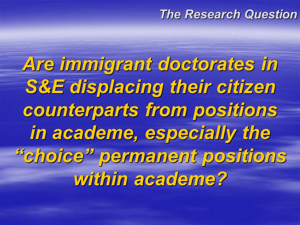 Background The growth in U.S.-trained S&E doctorates in the United States has largely been fueled by foreign citizens.