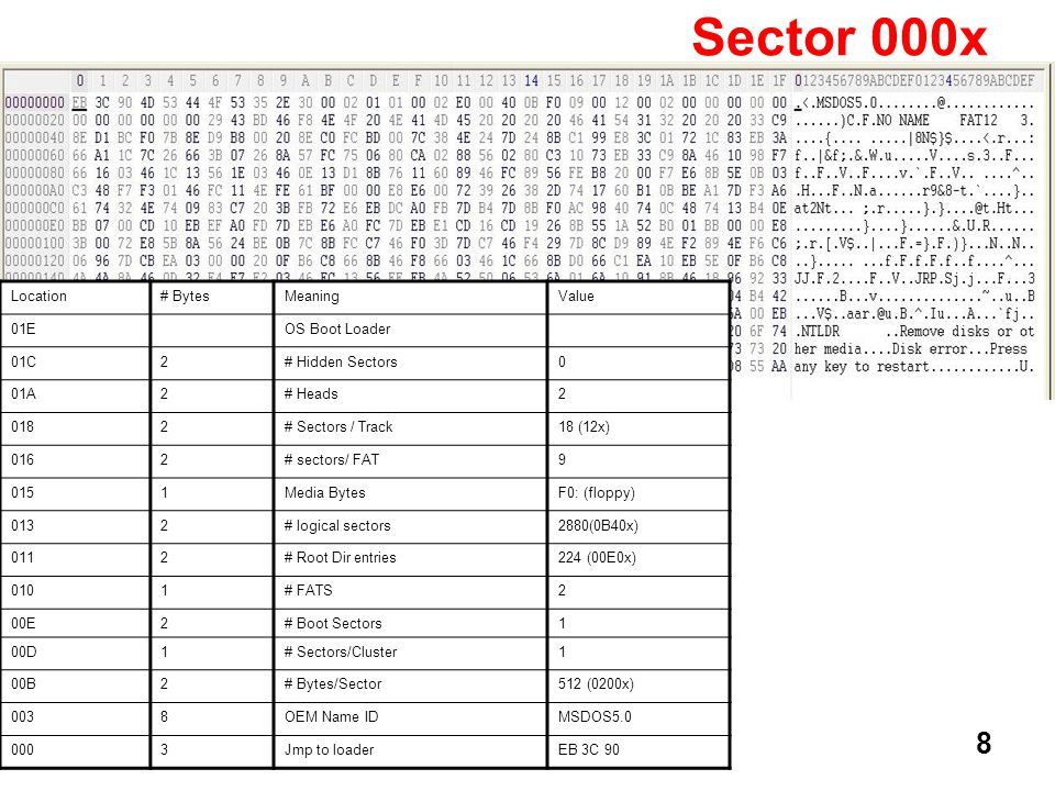 19 Sector 024x This contains the contents of the file File2.