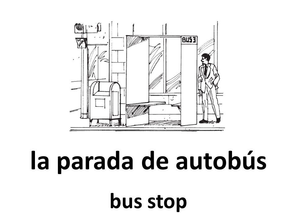 la parada de autobús bus stop