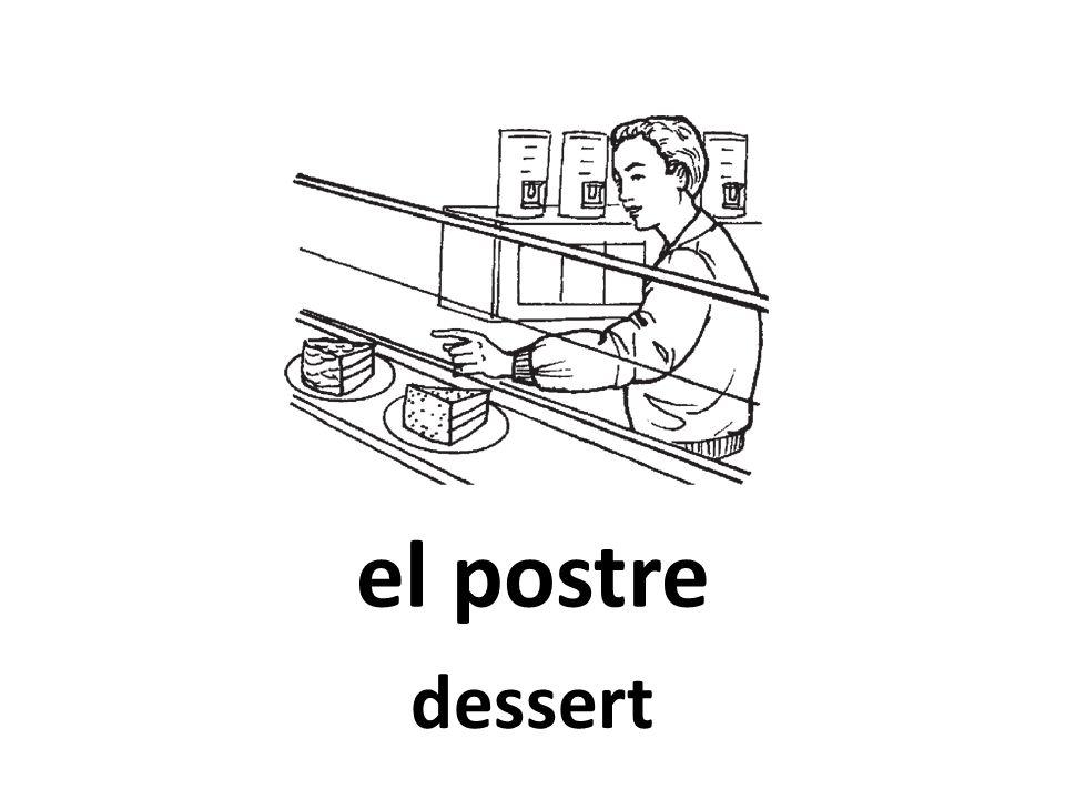 el postre dessert