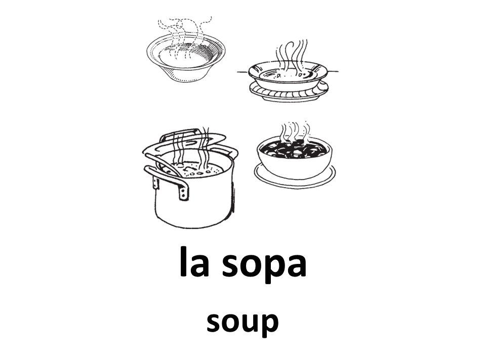 la sopa soup