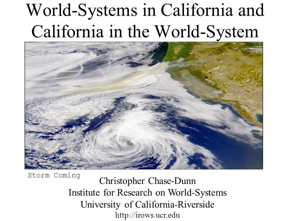 California – the Western edge of U.S. hegemony