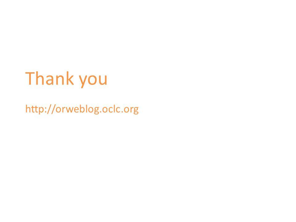Thank you http://orweblog.oclc.org