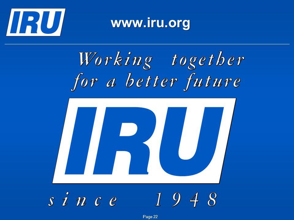 Page 22 www.iru.org