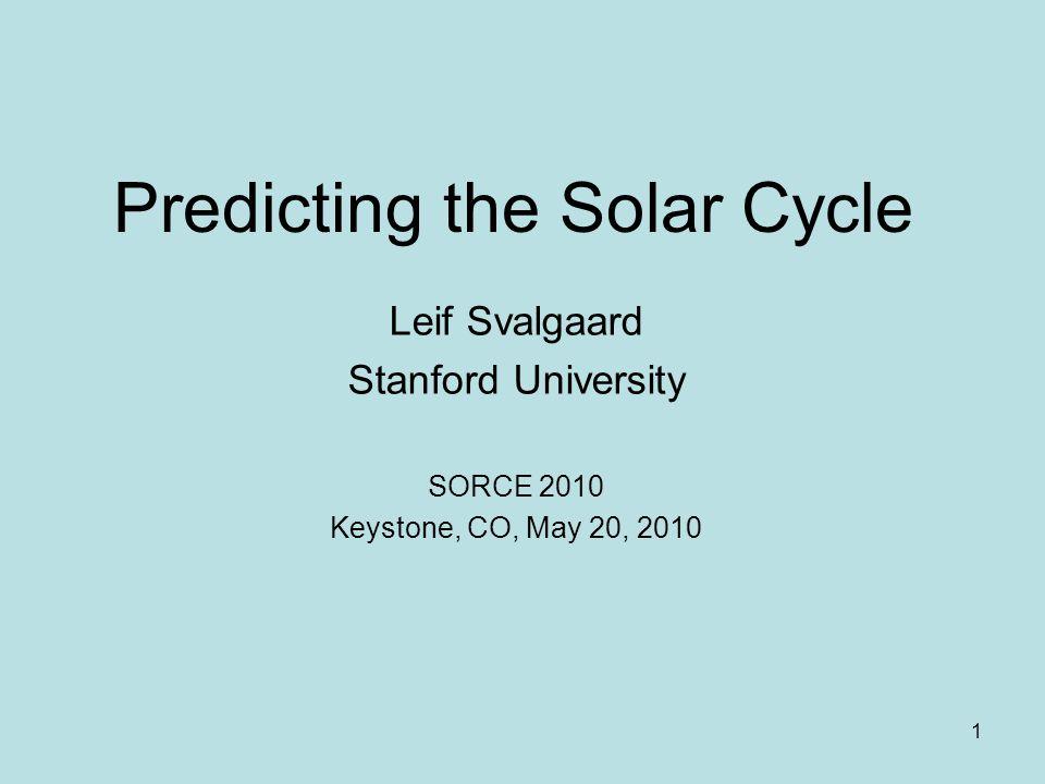 22 Geomagnetic Activity at Minimum Polar Field Proxy? Svalgaard, 2009