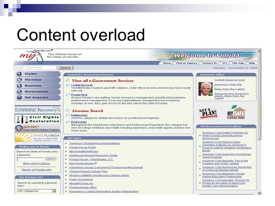 Content overload