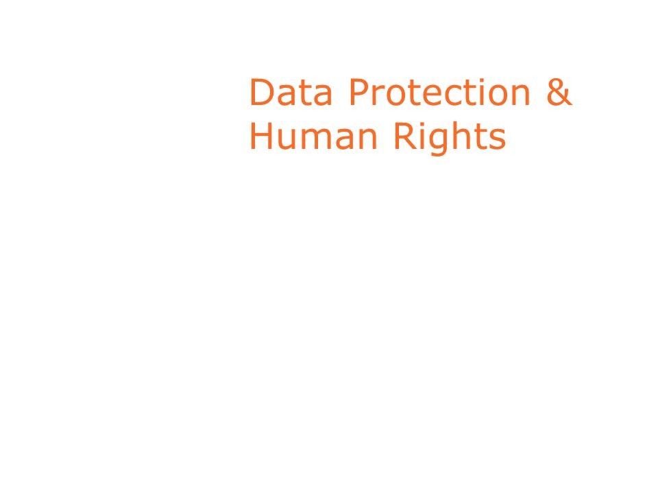 Data Protection & Human Rights