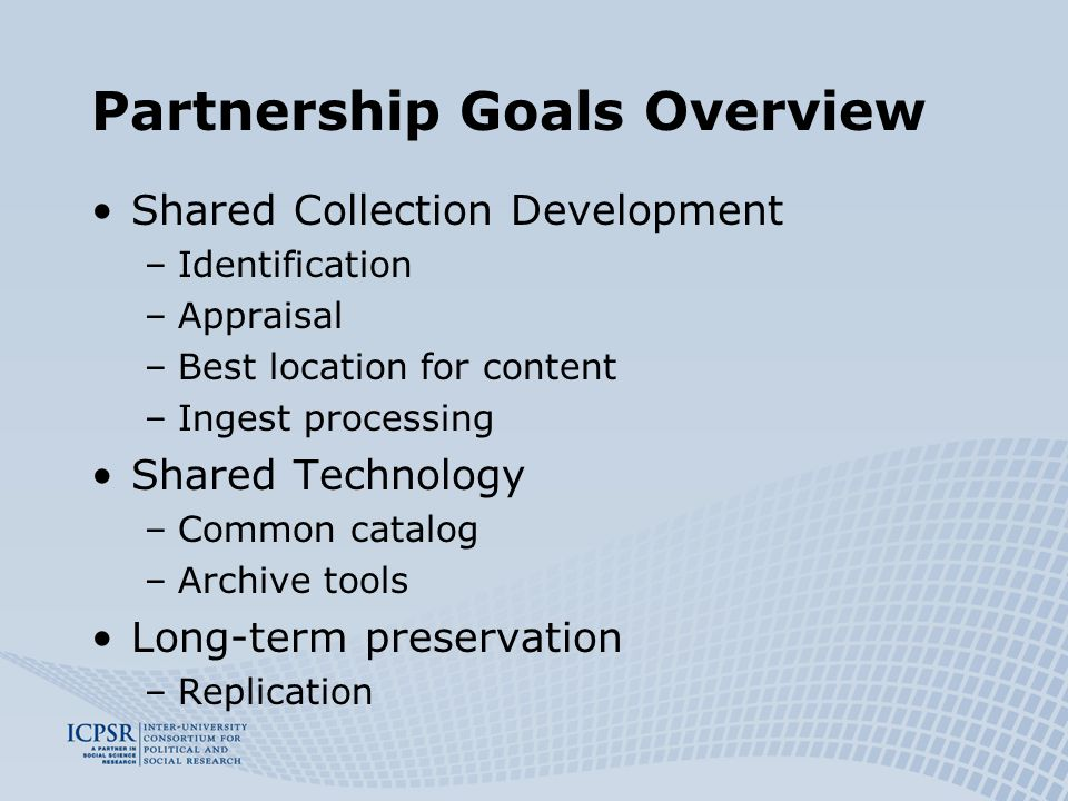 Articles of Collaboration (Concluded fall 05) 1.Membership 2.Management Structure 3.Addition/Withdrawal of Membership 4.Subcontracting 5.Reporting 6.Cost Sharing 7.Funding & Accounting Requirements 8.Technology
