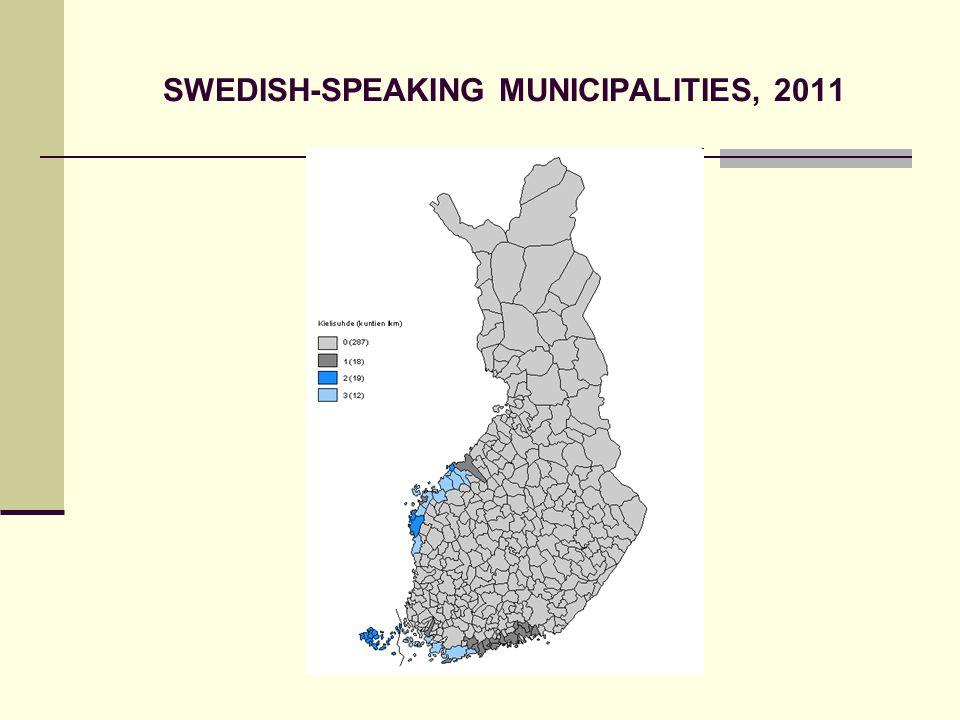 SWEDISH-SPEAKING MUNICIPALITIES, 2011
