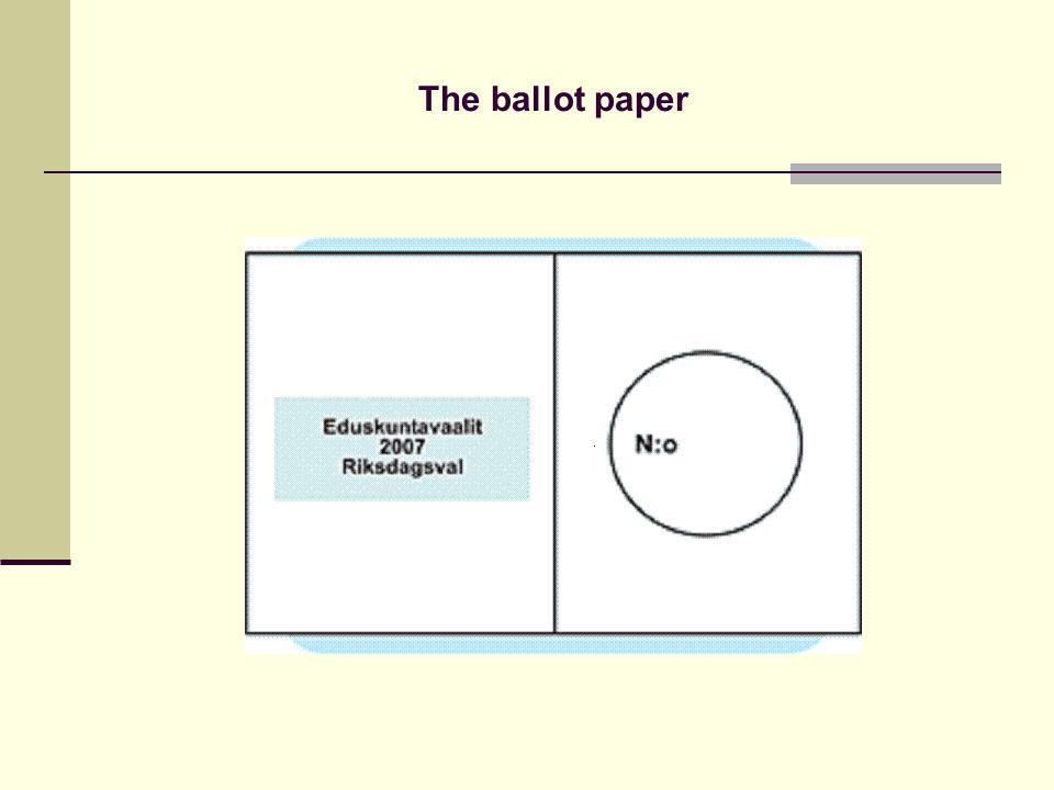 The ballot paper