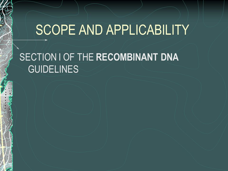 IBC COORDINATION WITH OTHER COMMITTEES NIH RECOMBINANT DNA GUIDELINES