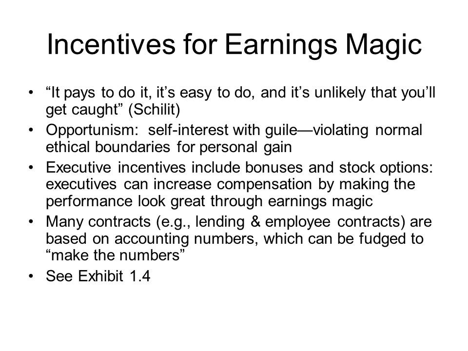 Can Earnings Magic be Detected.
