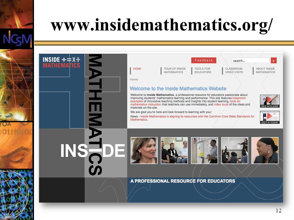 www.insidemathematics.org/ 12