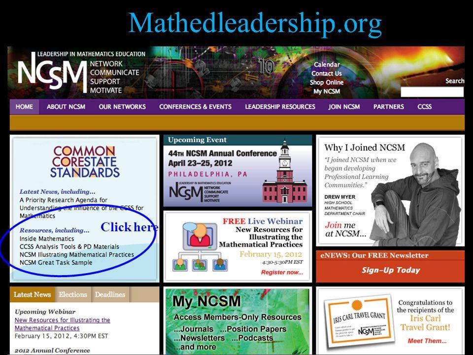 Mathedleadership.org 38 Click here
