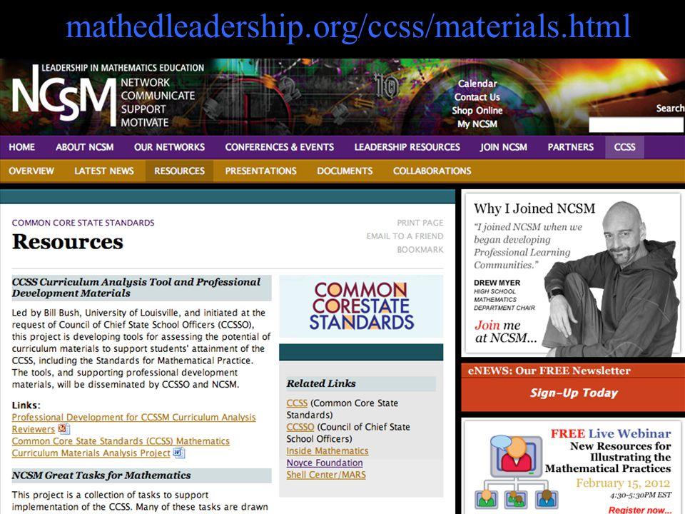 mathedleadership.org/ccss/materials.html 39