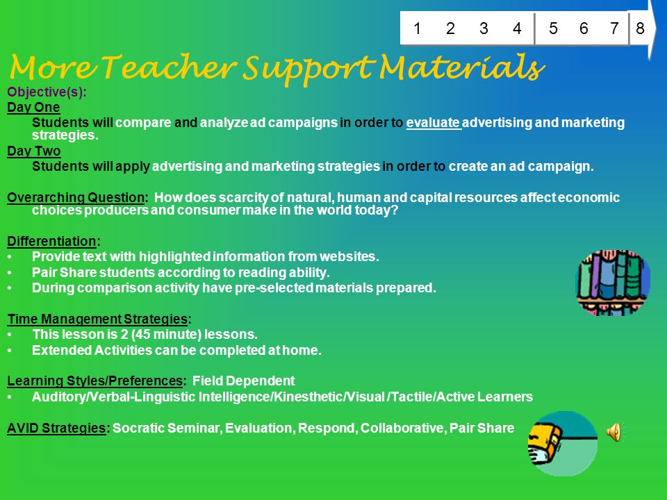 Teacher Support Materials MD STATE VOLUNTARY STATE CURRICULUM Social Studies 4.0 ECONOMICS – Students will develop economic reasoning to understand th