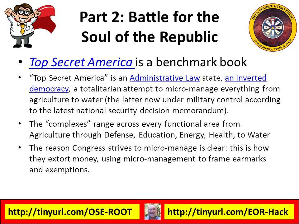http://tinyurl.com/OSE-ROOThttp://tinyurl.com/EOR-Hack Top Secret America is a benchmark book Top Secret America Top Secret America is an Administrati