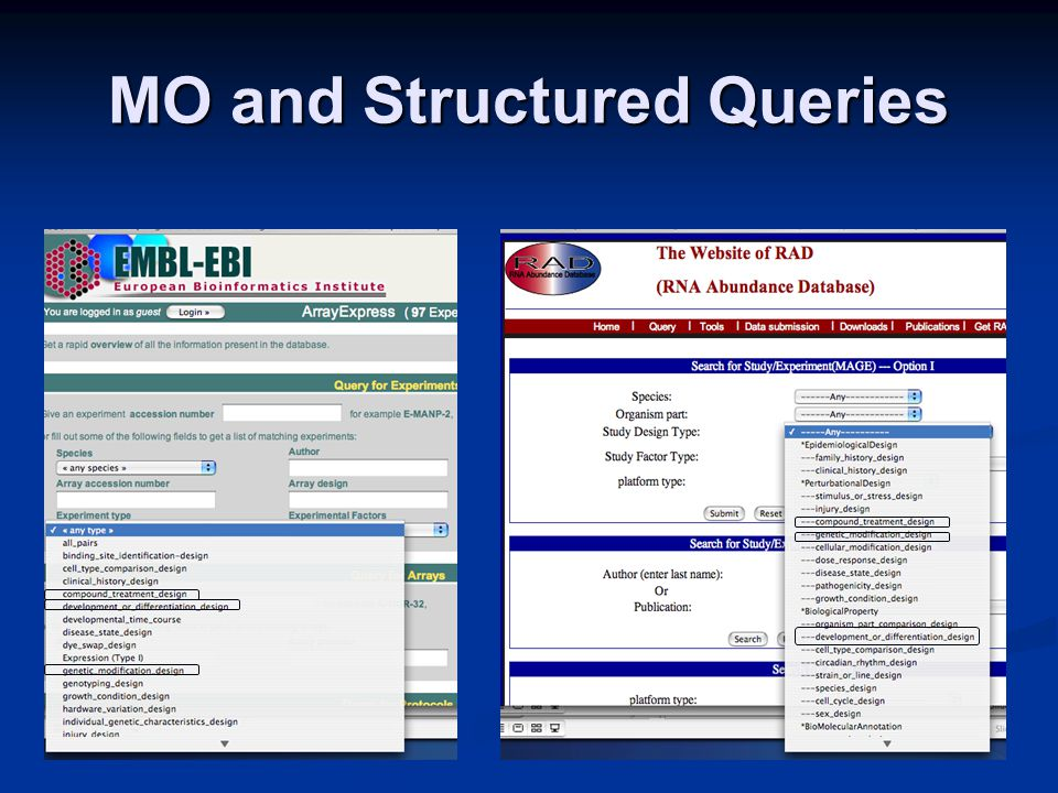 MO and Structured Queries