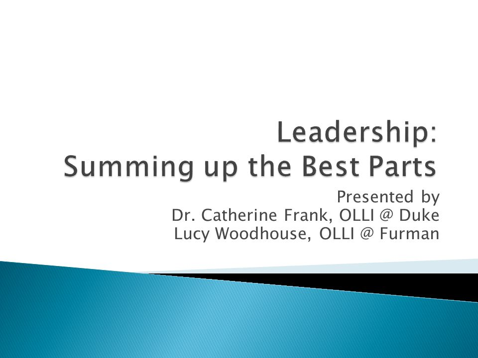 Presented by Dr. Catherine Frank, OLLI @ Duke Lucy Woodhouse, OLLI @ Furman