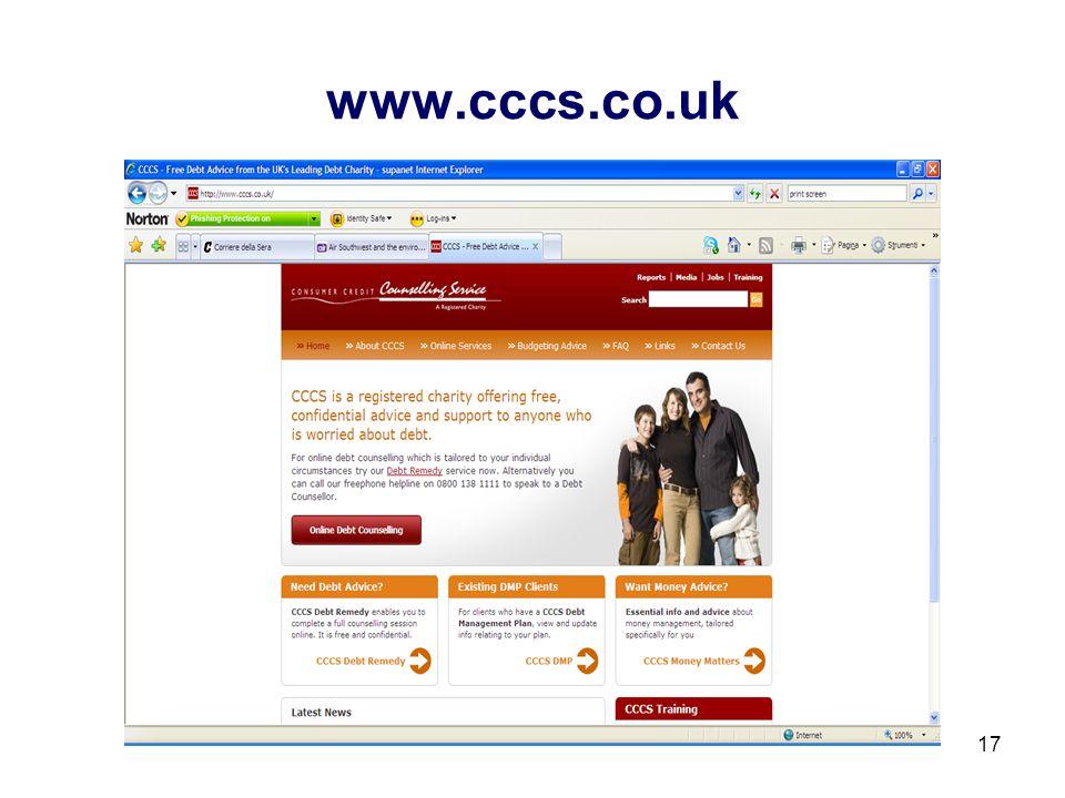 17 www.cccs.co.uk