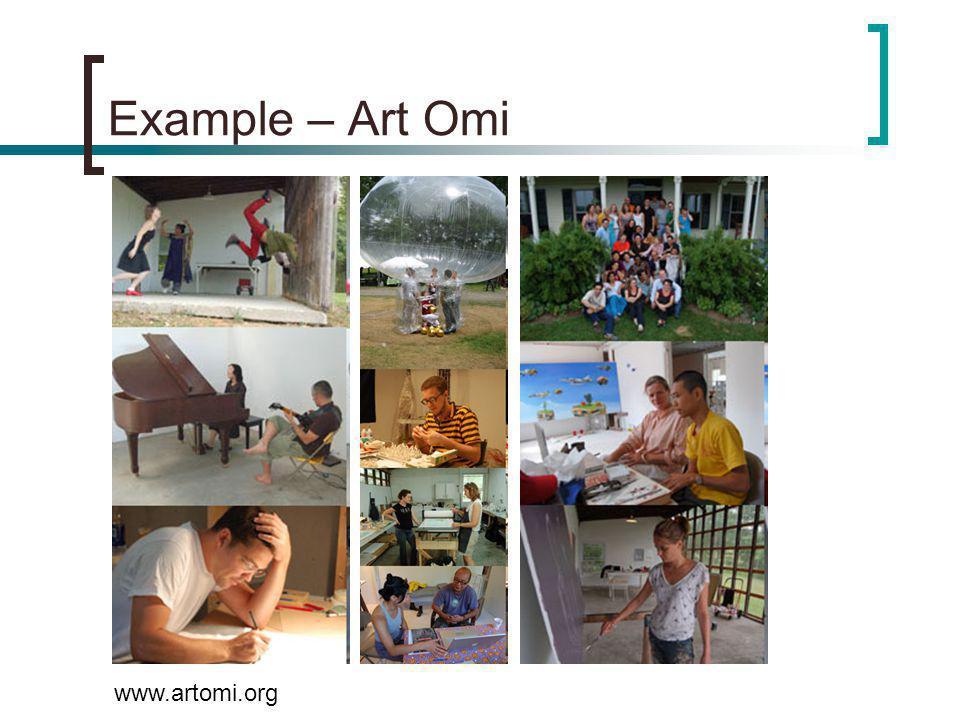 Example – Art Omi www.artomi.org
