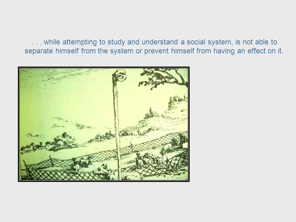 Applying cybernetic principles to social systems calls attention to the role of the observer of a system who,...