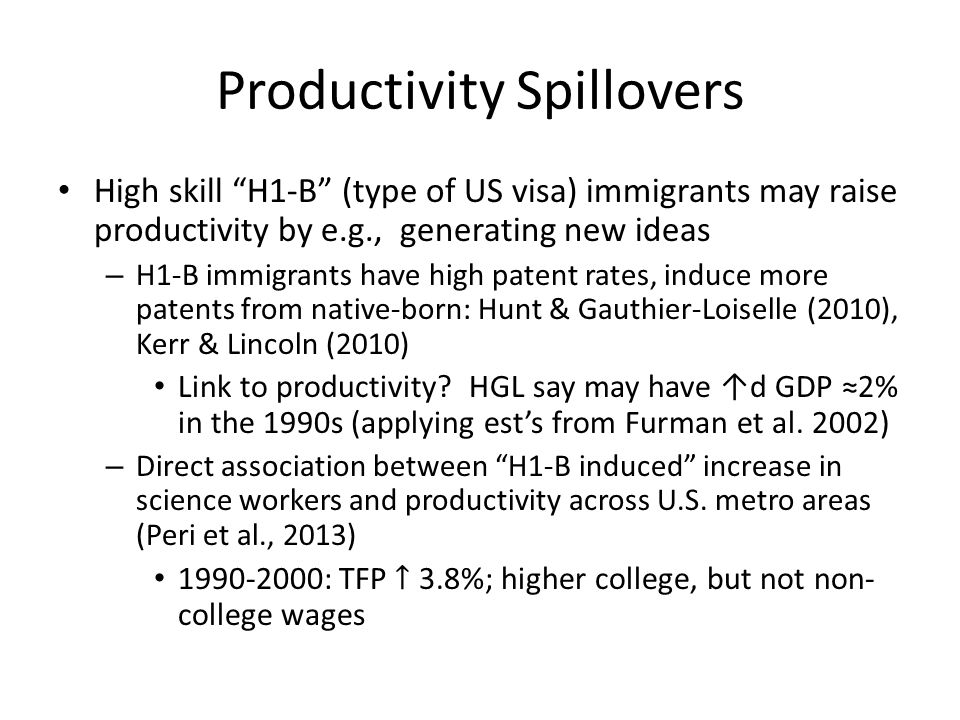 Productivity Spillovers