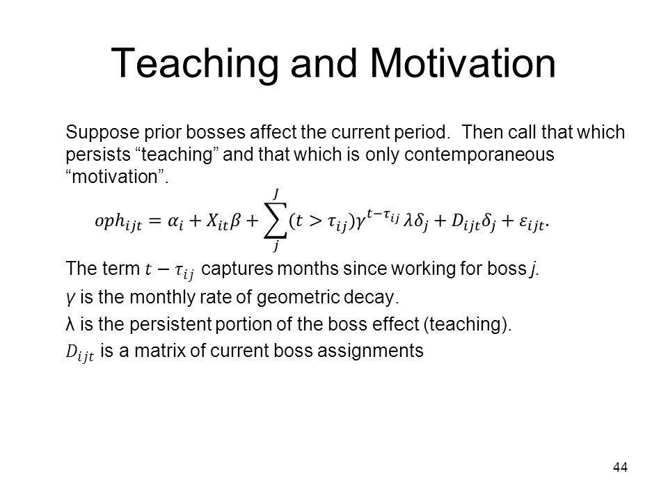 Teaching and Motivation 44