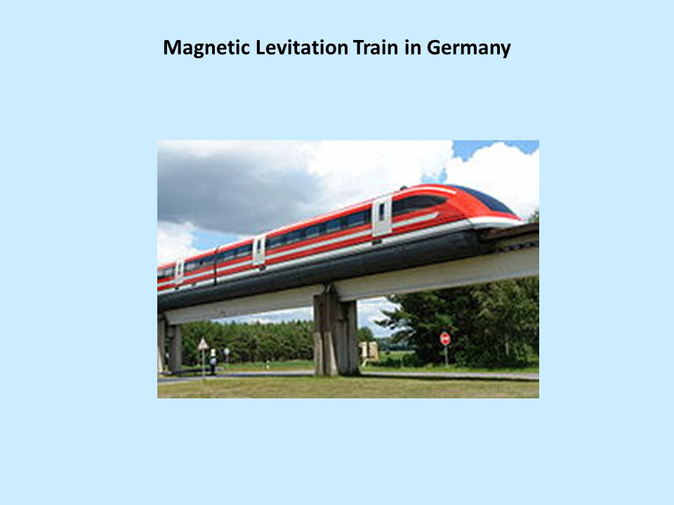 Magnetic Levitation Train in Germany