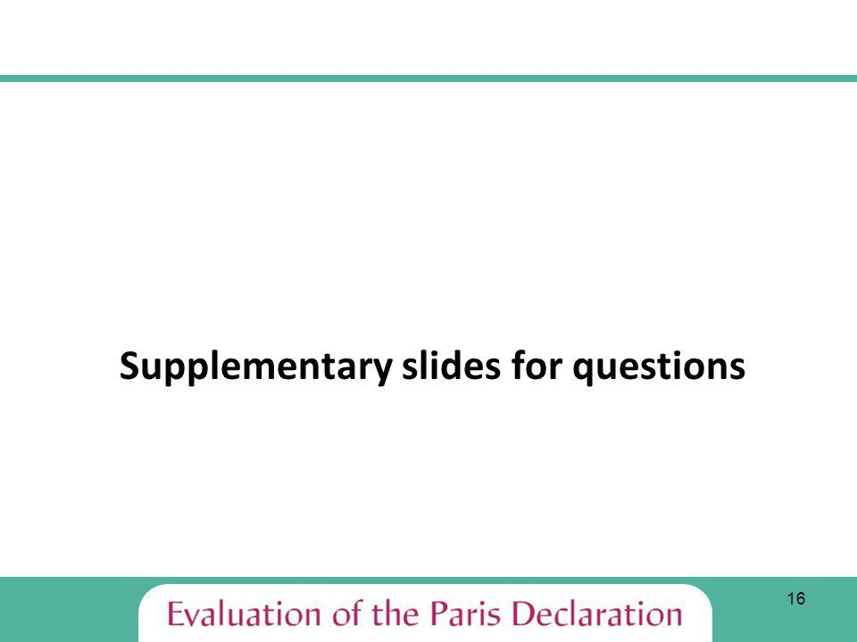 16 Supplementary slides for questions