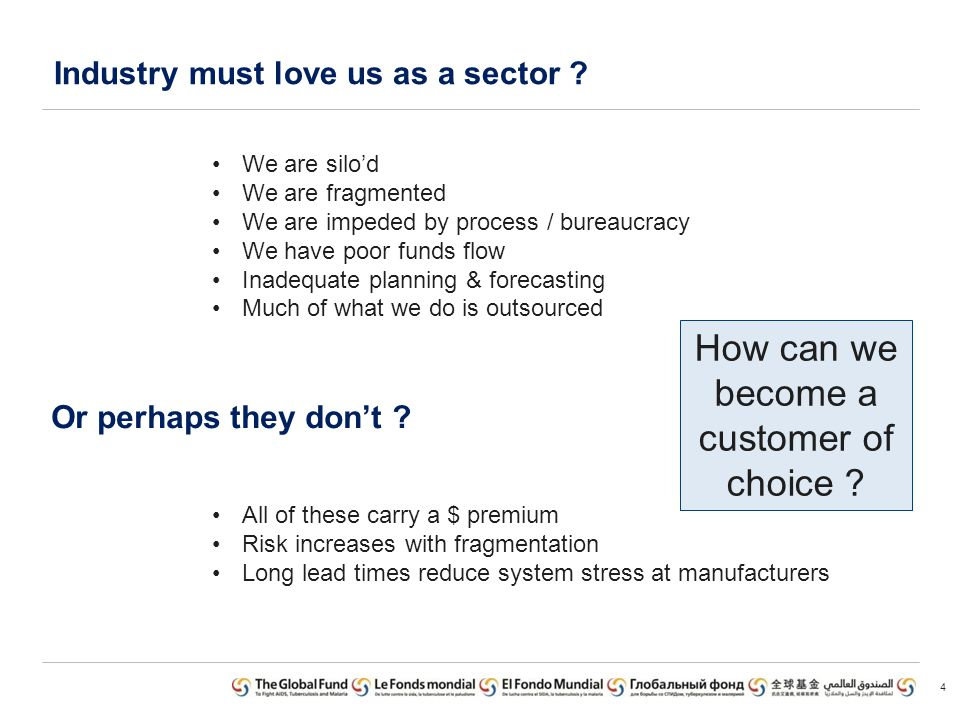 Industry must love us as a sector . 4 Or perhaps they dont .