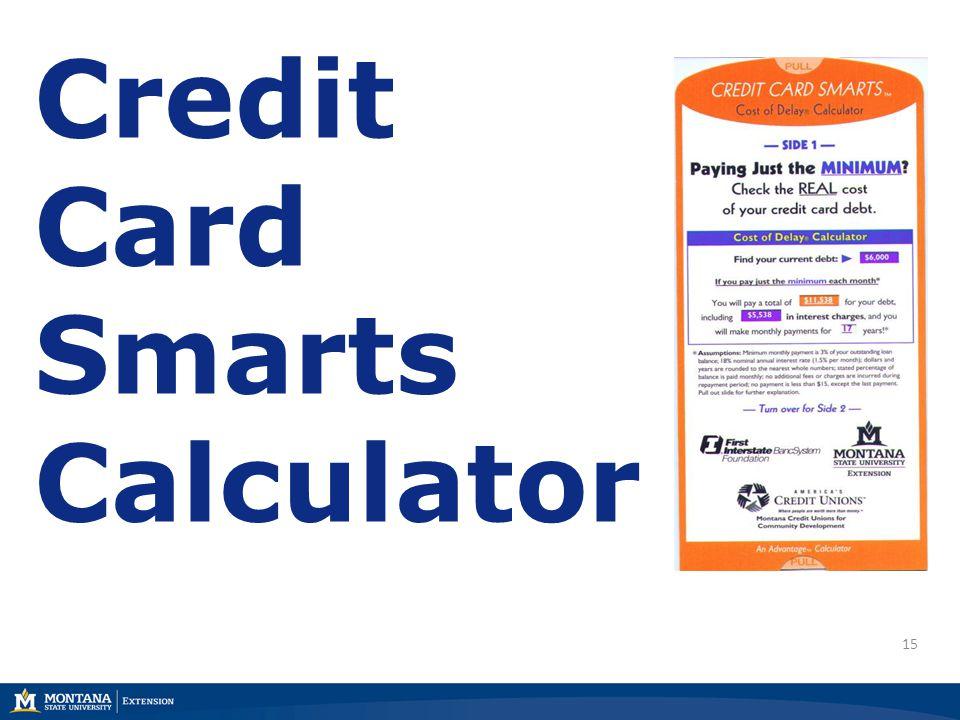 15 Credit Card Smarts Calculator