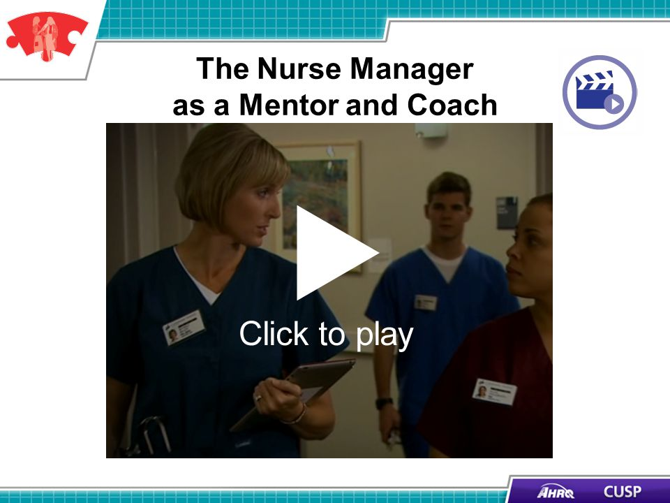 The Nurse Manager as a Mentor and Coach