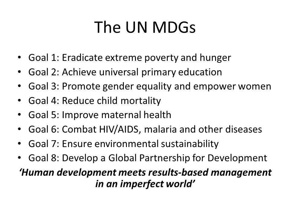 MDGs Contribution to Poverty Eradication.