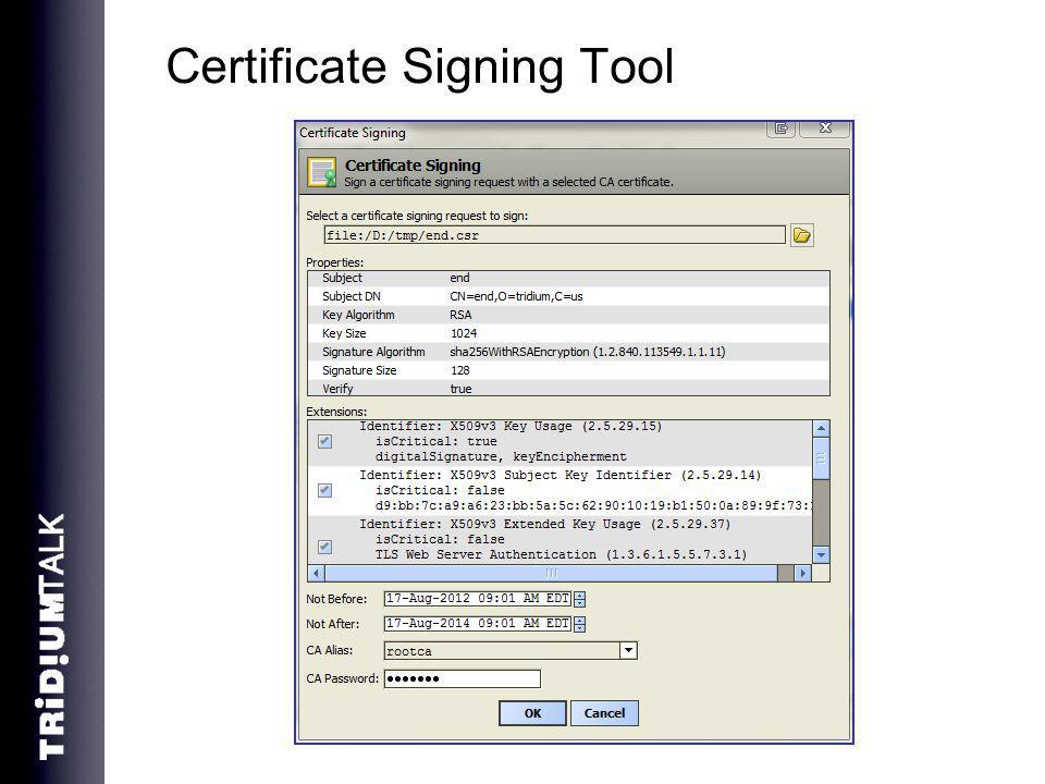 Certificate Signing Tool