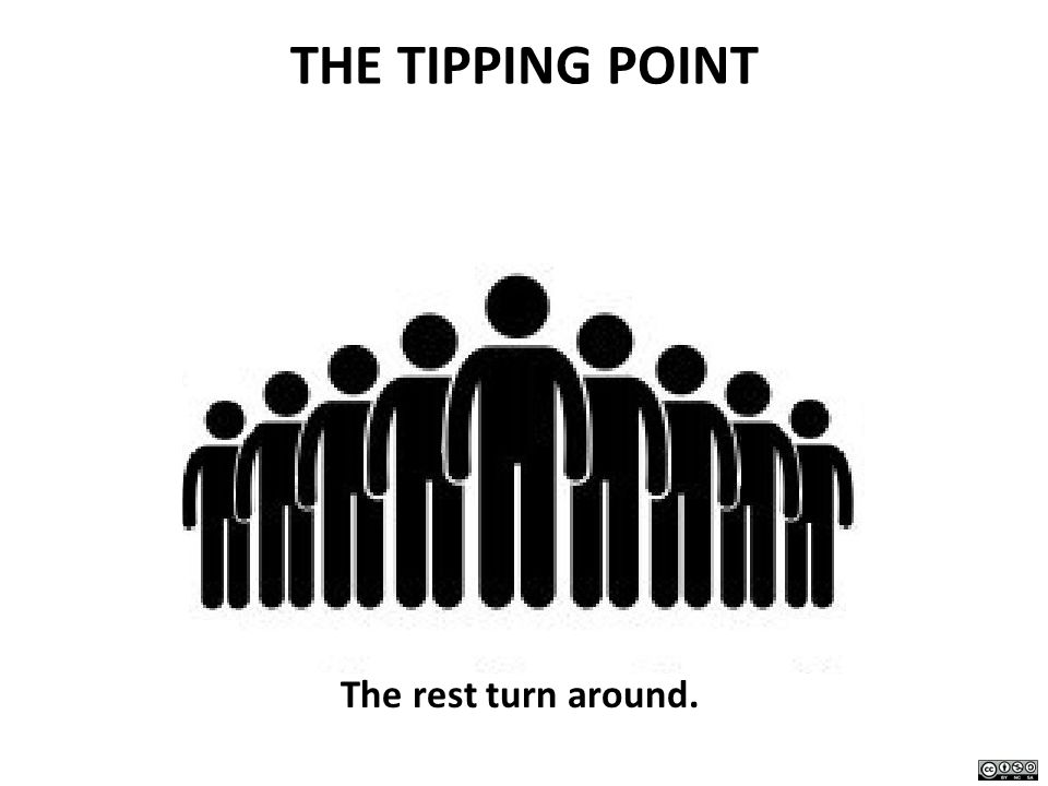 THE TIPPING POINT The rest turn around.