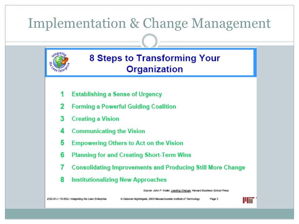 Implementation & Change Management