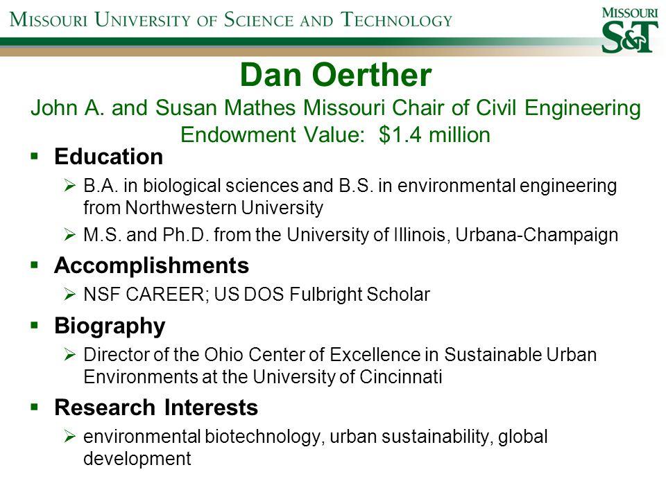 Dan Oerther John A.