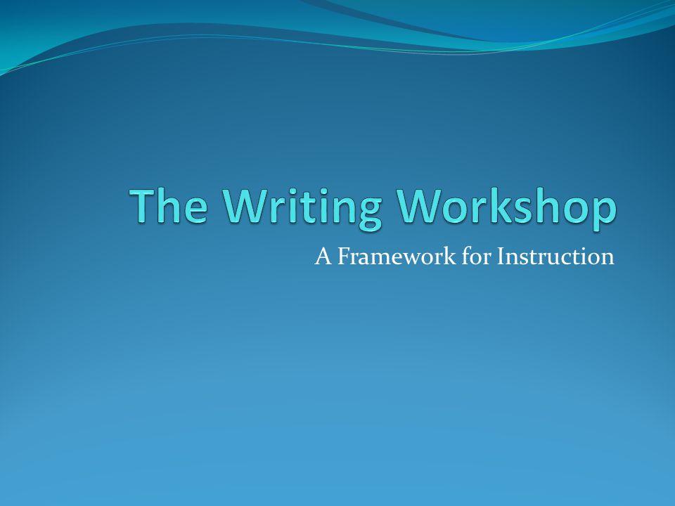 A Framework for Instruction
