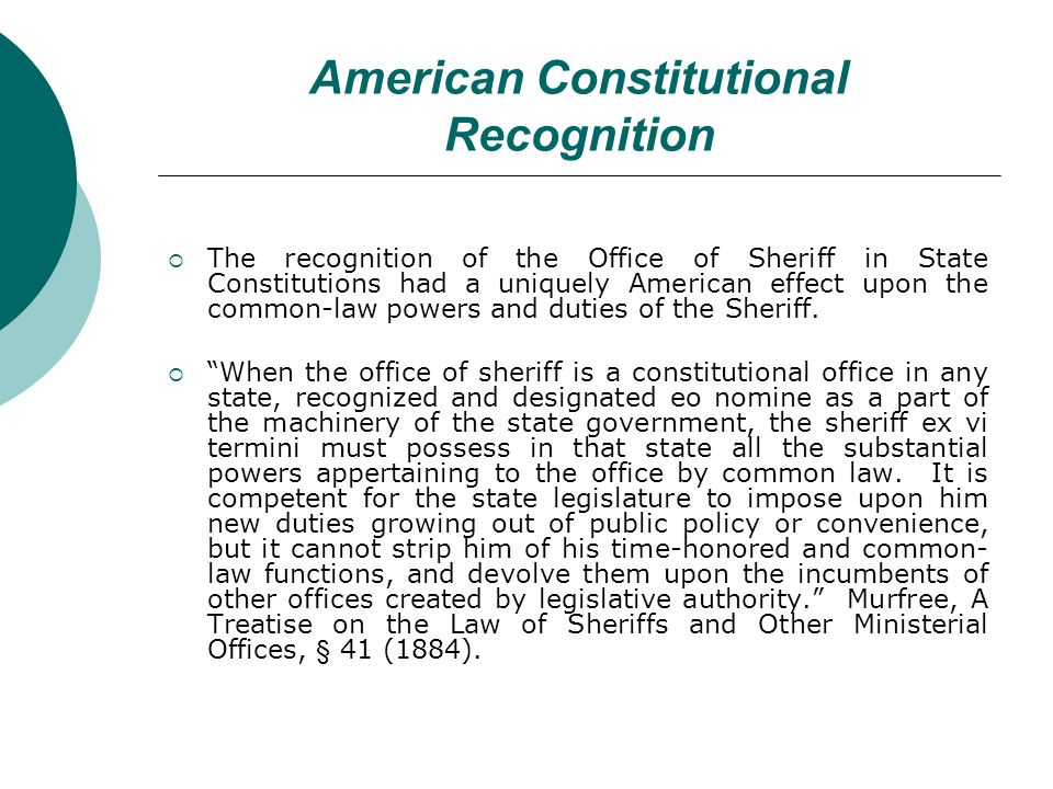 Judicial Only common-law function that is now obsolete – Sheriff no longer sits on county courts 1297 a.d.