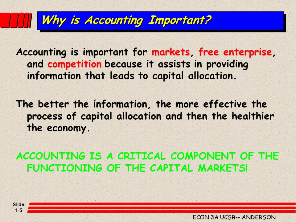 Slide 1-6 ECON 3A UCSB-- ANDERSON Users of Financial Information Management Common Decisions.